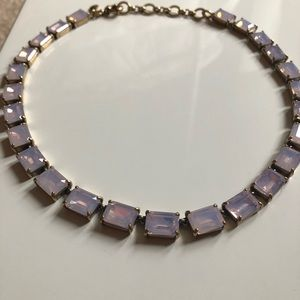 J Crew iridescent pink stone necklace